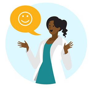talk to your patients in reassuring tone