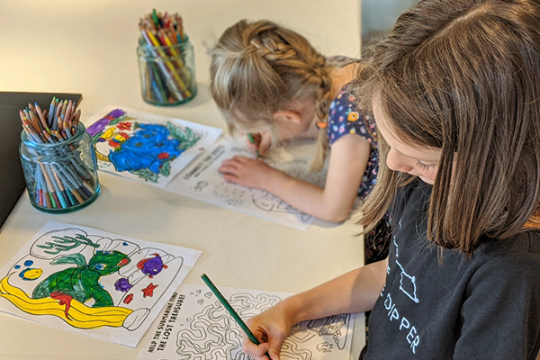 themed coloring apges for kids