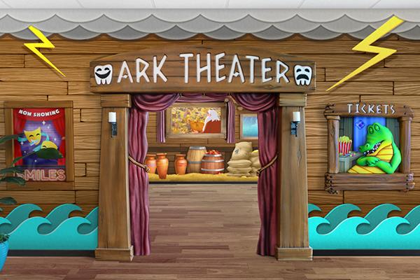 noah's ark themed theater for kids